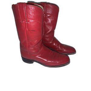 Justin Red boots Women's 6B